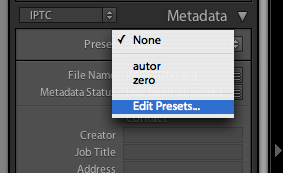 edit Presets Library