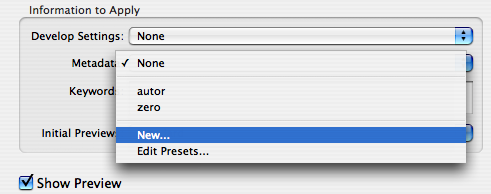 import presets
